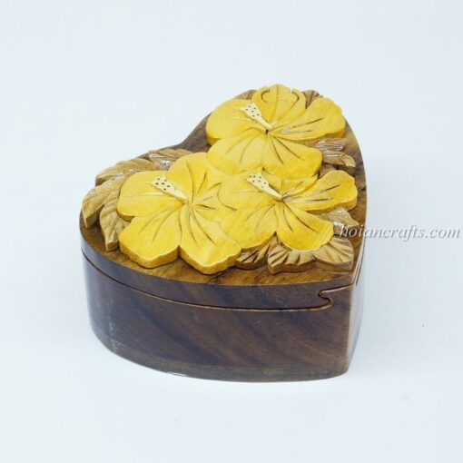 Intarsia wooden puzzle boxes 1