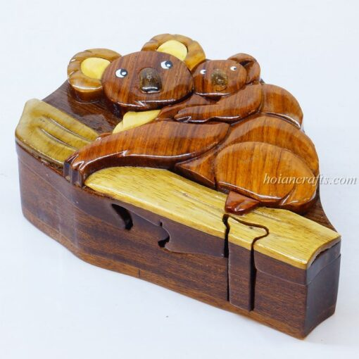 Intarsia wooden puzzle boxes 19