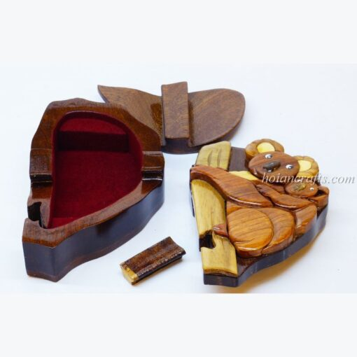 Intarsia wooden puzzle boxes 19a