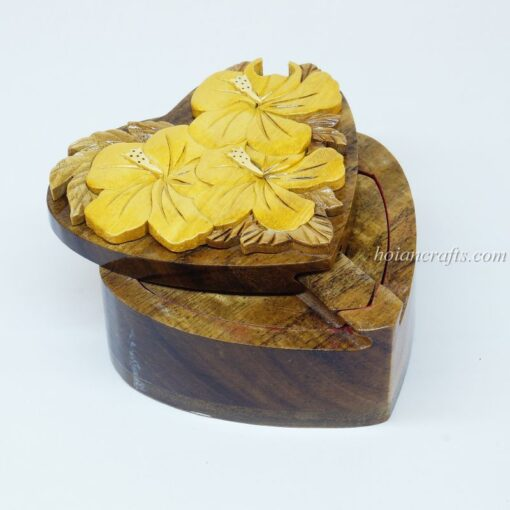 Intarsia wooden puzzle boxes 1a