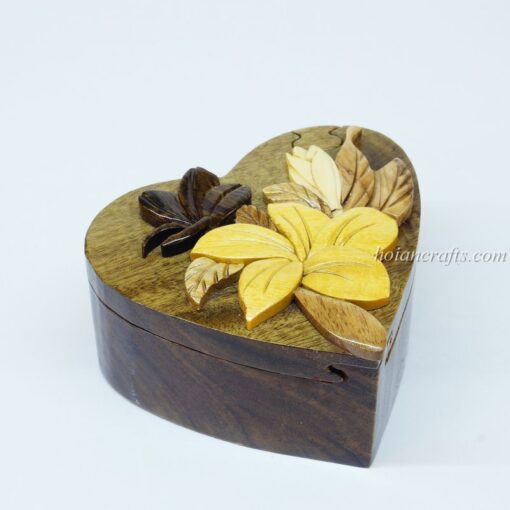 Intarsia wooden puzzle boxes 2