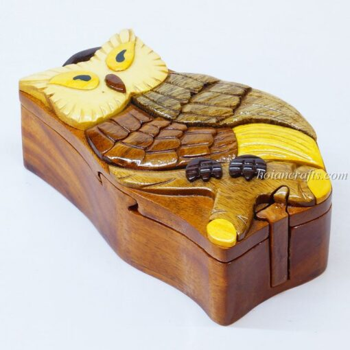 Intarsia wooden puzzle boxes 22