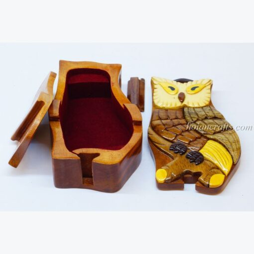 Intarsia wooden puzzle boxes 22a