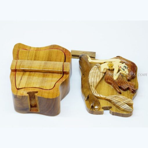 Intarsia wooden puzzle boxes 23b