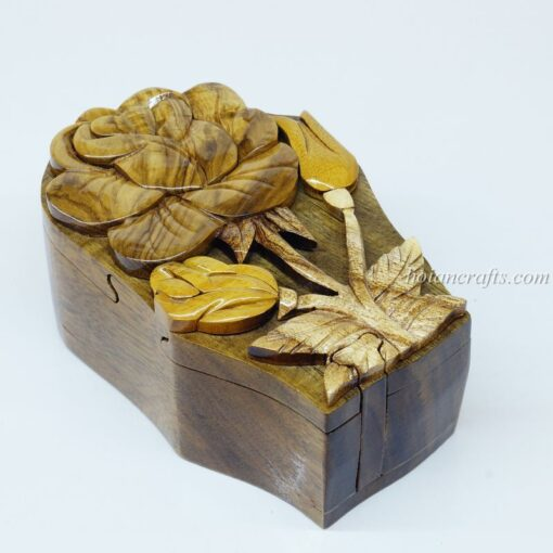 Intarsia wooden puzzle boxes 24