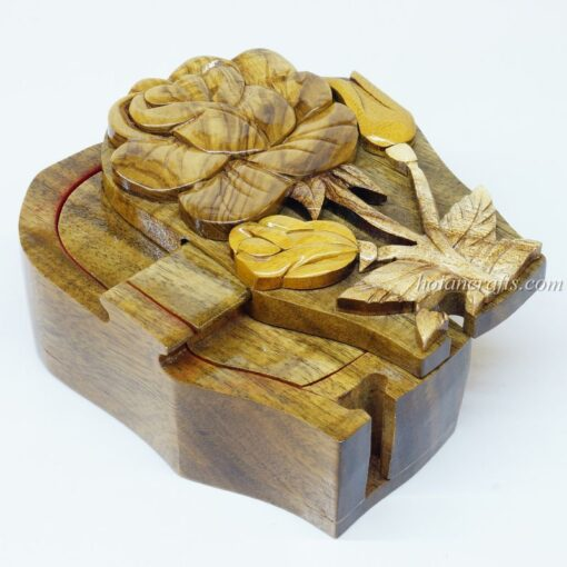 Intarsia wooden puzzle boxes 24a