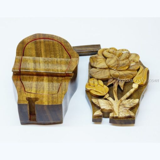 Intarsia wooden puzzle boxes 24b
