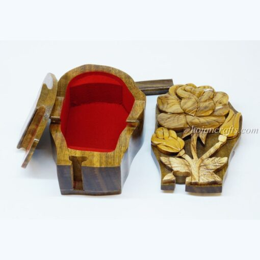 Intarsia wooden puzzle boxes 24c