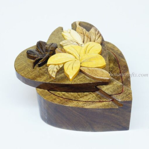 Intarsia wooden puzzle boxes 2a