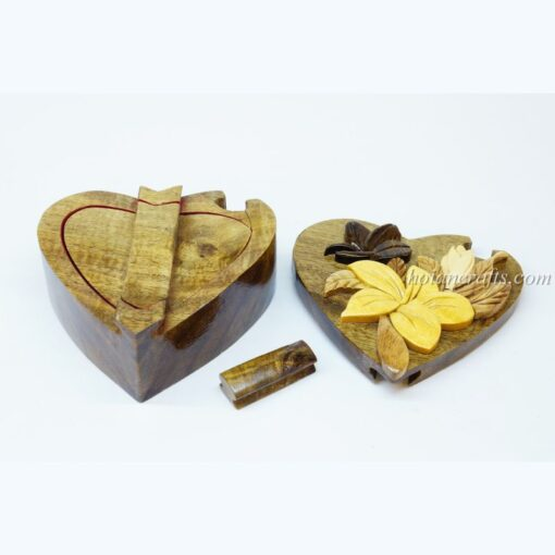 Intarsia wooden puzzle boxes 2b