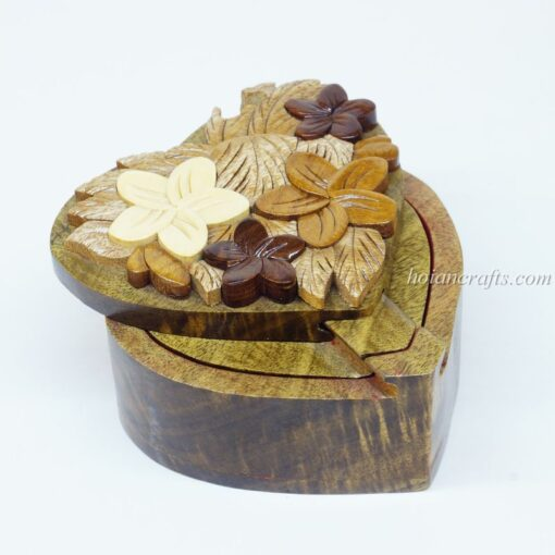 Intarsia wooden puzzle boxes 3a