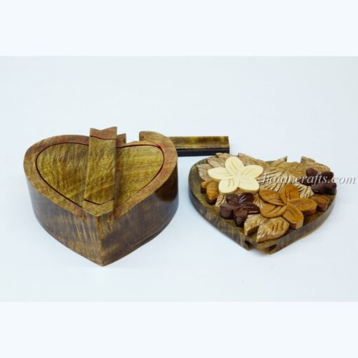 Intarsia wooden puzzle boxes 3b