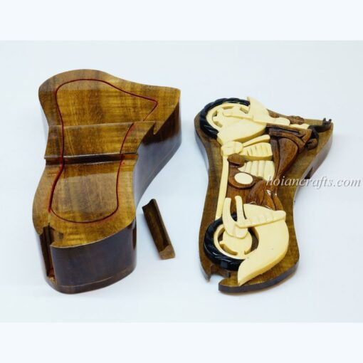Intarsia wooden puzzle boxes 4b