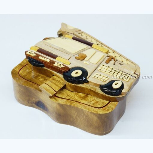 Intarsia wooden puzzle boxes 6a