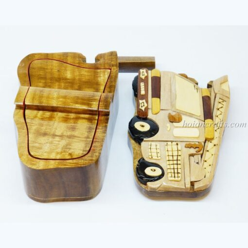 Intarsia wooden puzzle boxes 6b