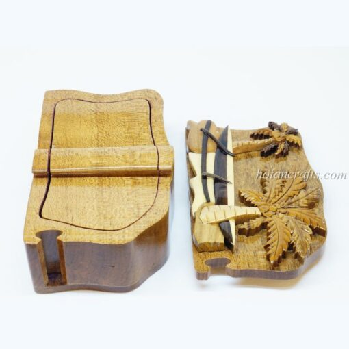Intarsia wooden puzzle boxes 7b