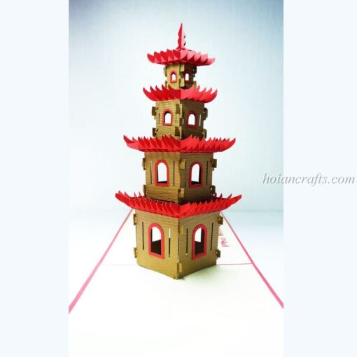 Pagoda Pop Up Card