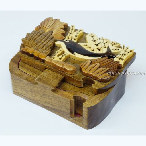 Intarsia wooden puzzle boxes 14a