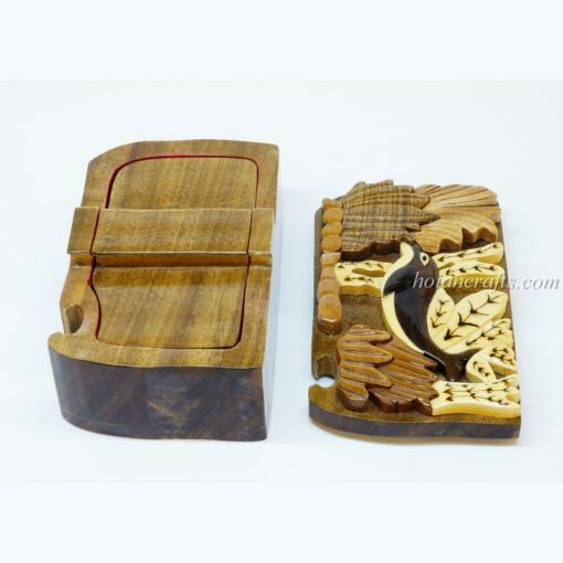 Intarsia wooden puzzle boxes 14b