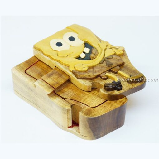 Intarsia wooden puzzle boxes 15a