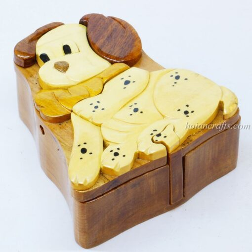 Intarsia wooden puzzle boxes 16