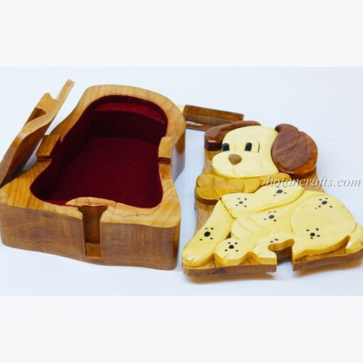 Intarsia wooden puzzle boxes 16a