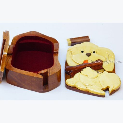 Intarsia wooden puzzle boxes 17a