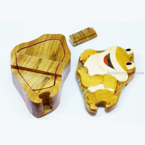 Intarsia wooden puzzle boxes 26b