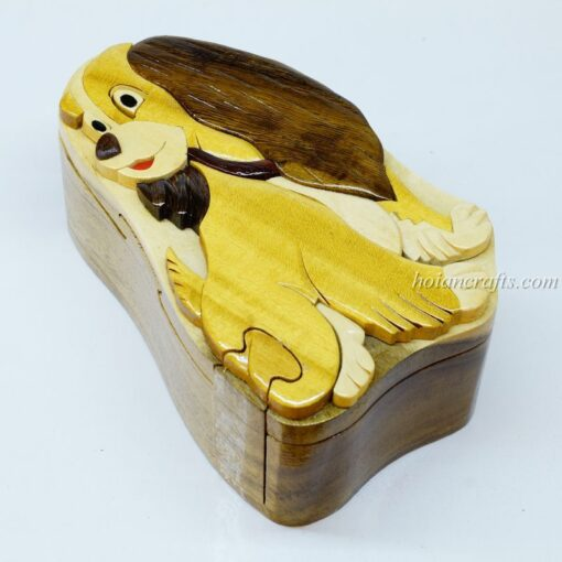 Intarsia wooden puzzle boxes 27