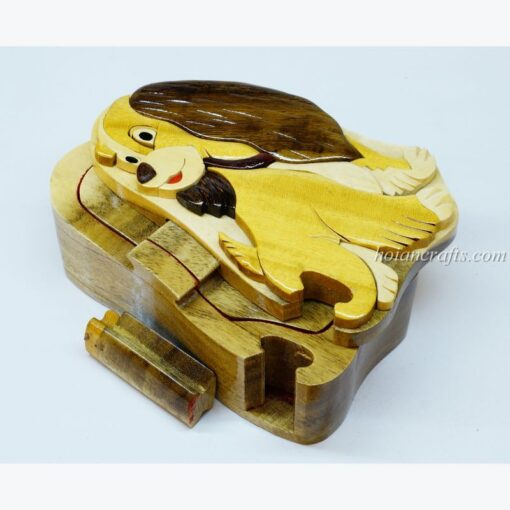 Intarsia wooden puzzle boxes 27a