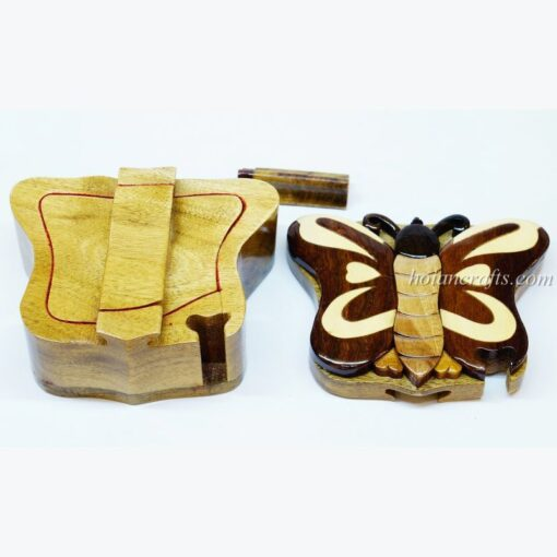 Intarsia wooden puzzle boxes 28b