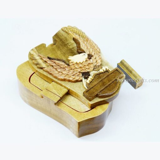 Intarsia wooden puzzle boxes 29a