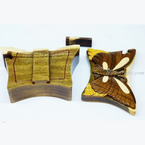 Intarsia wooden puzzle boxes 30b