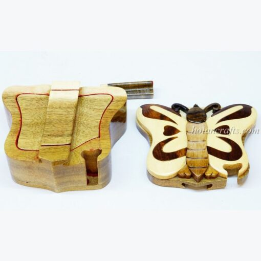 Intarsia wooden puzzle boxes 31b