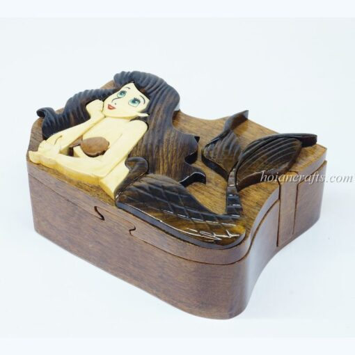 Intarsia wooden puzzle boxes 34