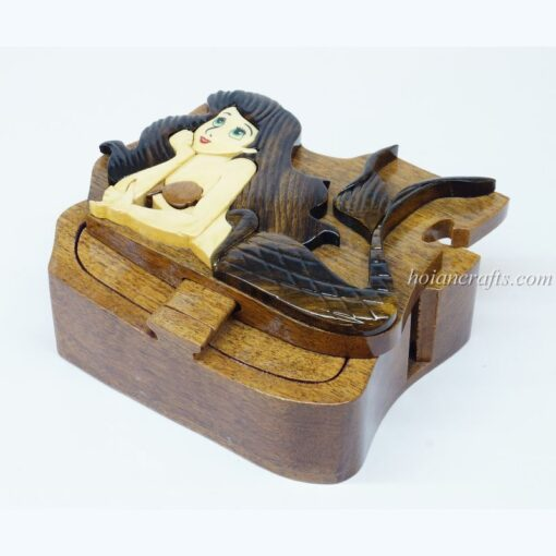 Intarsia wooden puzzle boxes 34a