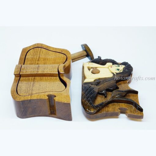 Intarsia wooden puzzle boxes 34b