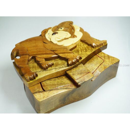 Intarsia wooden puzzle boxes 35a