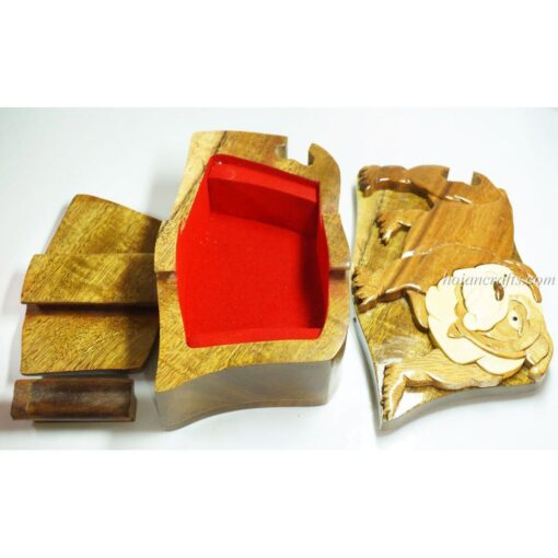 Intarsia wooden puzzle boxes 35b