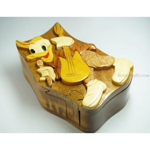 Intarsia wooden puzzle boxes 36