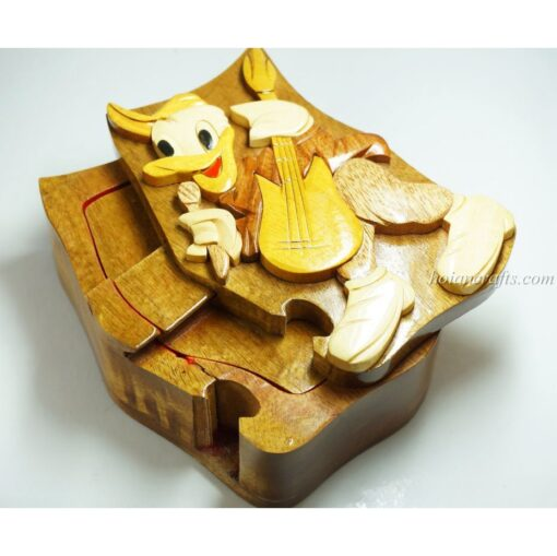 Intarsia wooden puzzle boxes 36a