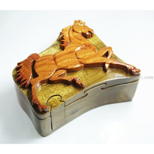 Intarsia wooden puzzle boxes 37