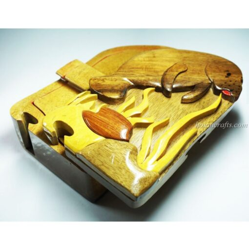 Intarsia wooden puzzle boxes 39a