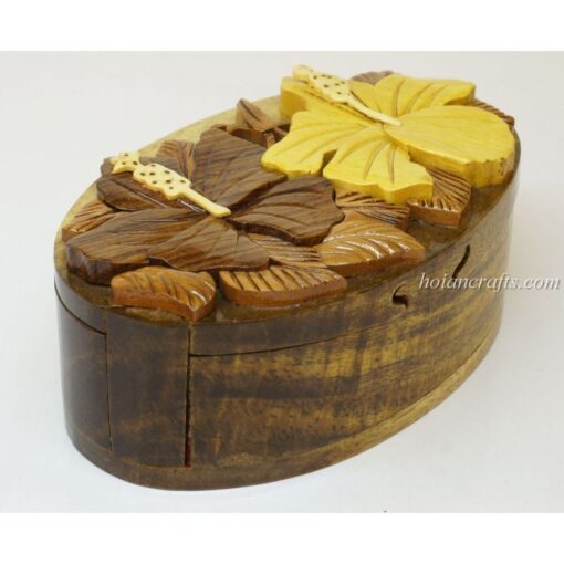 Intarsia wooden puzzle boxes 40