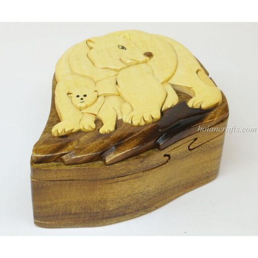 Intarsia wooden puzzle boxes 41