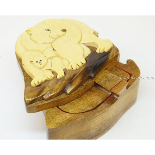 Intarsia wooden puzzle boxes 41a