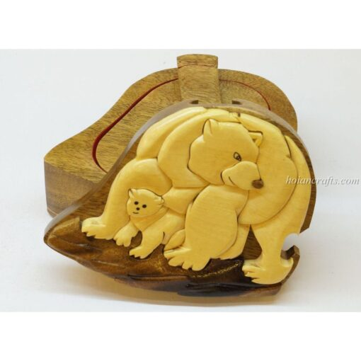 Intarsia wooden puzzle boxes 41b