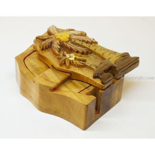 Intarsia wooden puzzle boxes 42a