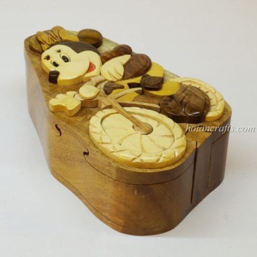 Intarsia wooden puzzle boxes 43