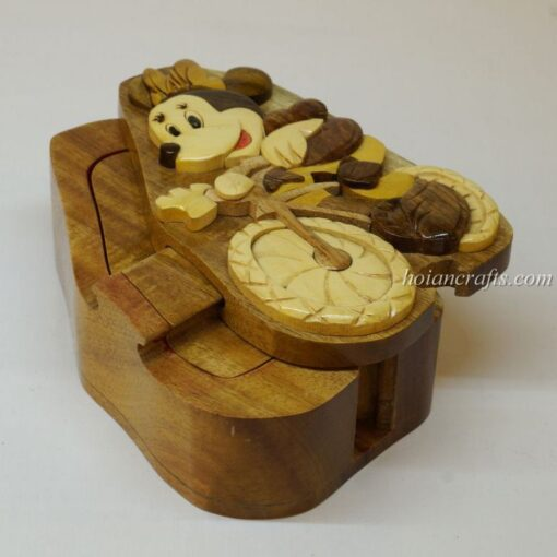 Intarsia wooden puzzle boxes 43a